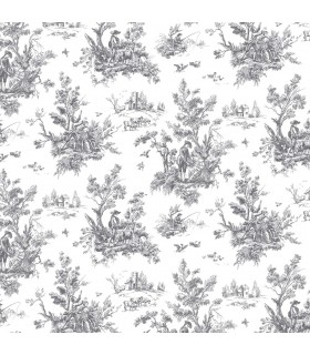 AB42413 - Flourish Wallpaper by Norwall-Victorian Toile