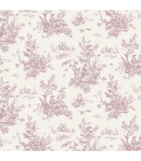 AF37705 - Flourish Wallpaper by Norwall-Victorian Toile