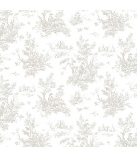 AF37704 - Flourish Wallpaper by Norwall-Victorian Toile