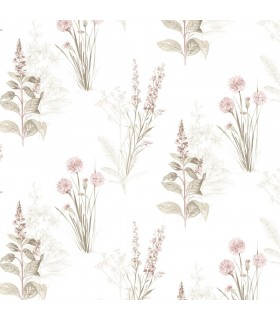 AF37715 - Flourish Wallpaper by Norwall-Painterly Flowers