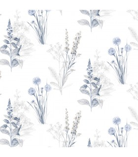 AF37716 - Flourish Wallpaper by Norwall-Painterly Flowers