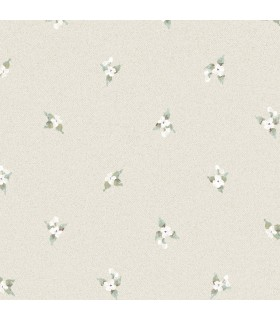 AF37748 - Flourish Wallpaper by Norwall-Floral Spot