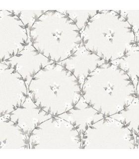 AF37744 - Flourish Wallpaper by Norwall-Floral Laurel