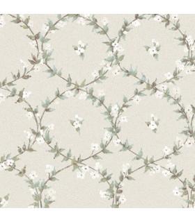 AF37745 - Flourish Wallpaper by Norwall-Floral Laurel
