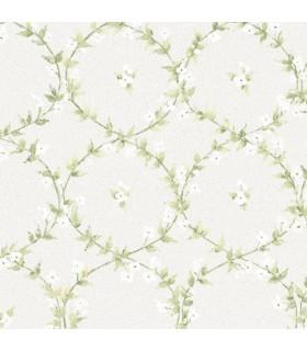 AF37746 - Flourish Wallpaper by Norwall-Floral Laurel
