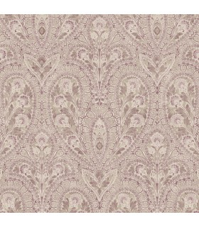 AF37727 - Flourish Wallpaper by Norwall-Paisley Print