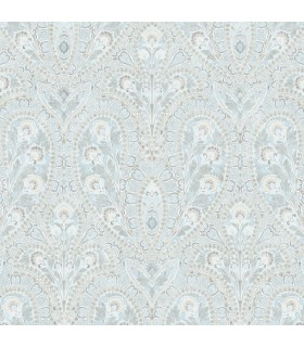 AF37728 - Flourish Wallpaper by Norwall-Paisley Print