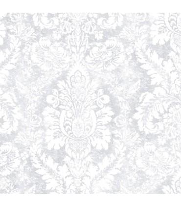 AB42424 - Flourish Wallpaper by Norwall-Valentine Damask