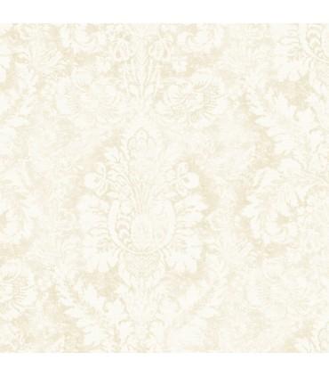 AB42427 - Flourish Wallpaper by Norwall-Valentine Damask