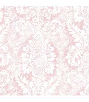 AF37711 - Flourish Wallpaper by Norwall-Valentine Damask