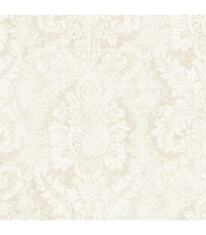AF37713 - Flourish Wallpaper by Norwall-Valentine Damask