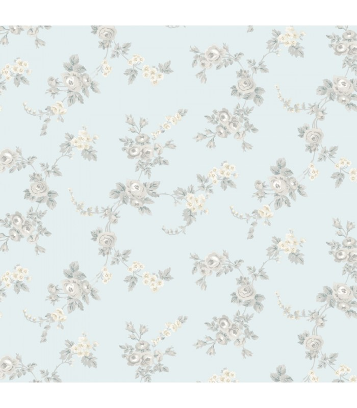 AF37706 - Flourish Wallpaper by Norwall-Chic Roses