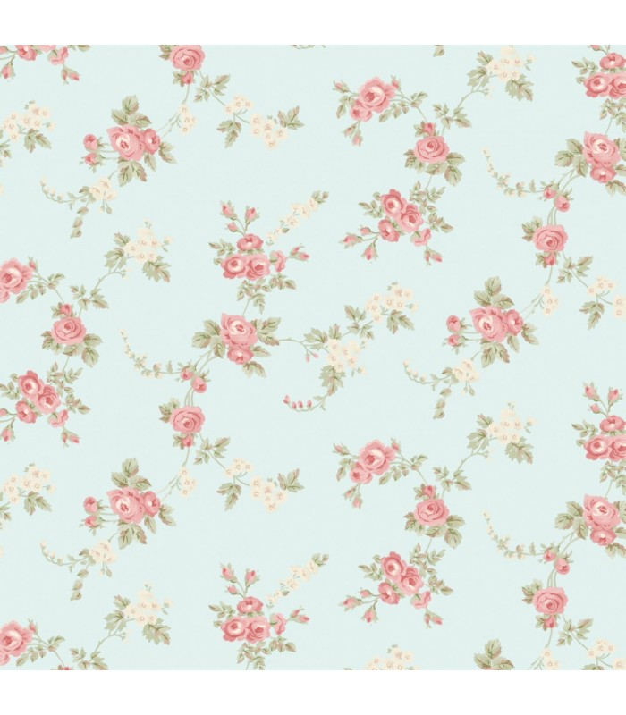 AB27659 - Flourish Wallpaper by Norwall-Chic Roses
