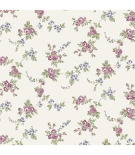 AF37707 - Flourish Wallpaper by Norwall-Chic Roses