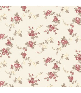 AF37708 - Flourish Wallpaper by Norwall-Chic Roses