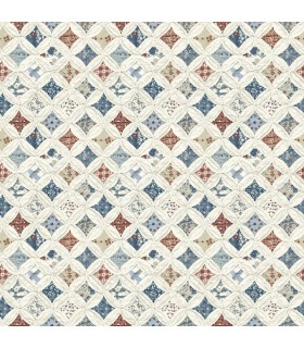 3119-13001 - Kindred Wallpaper by Chesapeake-Mcentire Geometric Quilt