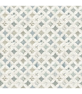 3119-13002 - Kindred Wallpaper by Chesapeake-Mcentire Geometric Quilt