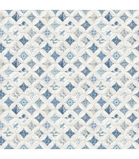3119-13003 - Kindred Wallpaper by Chesapeake-Mcentire Geometric Quilt