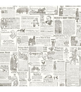 3119-13082 - Kindred Wallpaper by Chesapeake-Underwood Vintage Newspaper