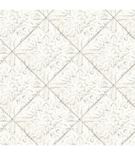 3119-13091 - Kindred Wallpaper by Chesapeake-Brandi Metallic Faux Tile