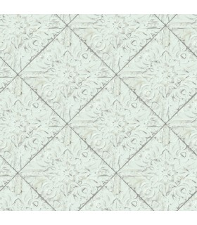 3119-13092 - Kindred Wallpaper by Chesapeake-Brandi Metallic Faux Tile