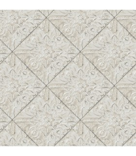 3119-13094 - Kindred Wallpaper by Chesapeake-Brandi Metallic Faux Tile