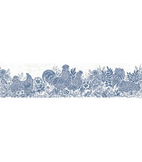 3119-13551B - Kindred Wallpaper by Chesapeake-Parton Chicken Border