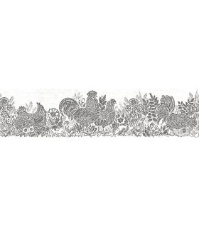 3119-13552B - Kindred Wallpaper by Chesapeake-Parton Chicken Border
