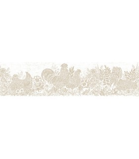 3119-13553B - Kindred Wallpaper by Chesapeake-Parton Chicken Border