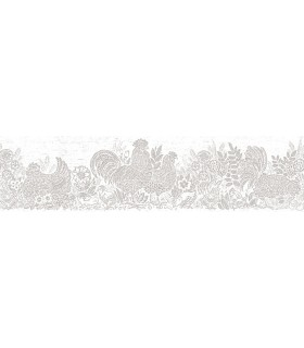 3119-13554B - Kindred Wallpaper by Chesapeake-Parton Chicken Border