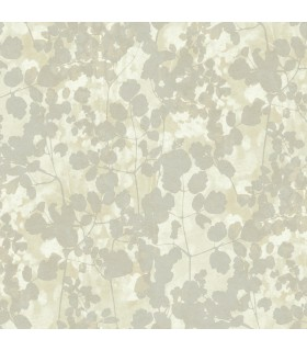 NA0518 - Botanical Dreams Wallpaper by Candice Olson-Pressed Leaves