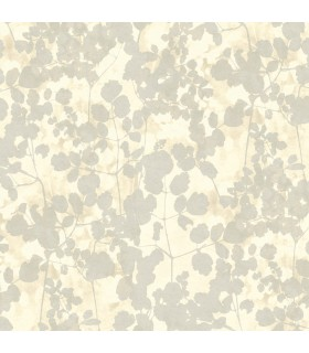 NA0519 - Botanical Dreams Wallpaper by Candice Olson-Pressed Leaves
