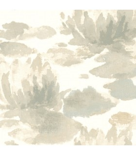 NA0524 - Botanical Dreams Wallpaper by Candice Olson-Water Lily