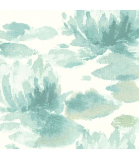 NA0525 - Botanical Dreams Wallpaper by Candice Olson-Water Lily