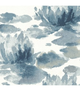 NA0527 - Botanical Dreams Wallpaper by Candice Olson-Water Lily