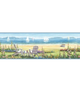 3120-20021B - Sanibel Sun Kissed Wallpaper by Chesapeake-Barnstable Seaside Border