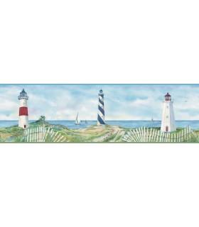 3120-46071B - Sanibel Sun Kissed Wallpaper by Chesapeake-Eugene Lighthouse