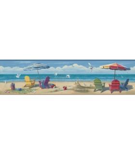 3120-46091B - Sanibel Sun Kissed Wallpaper by Chesapeake-Lori Beach Border