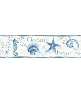 3120-53561B - Sanibel Sun Kissed Wallpaper by Chesapeake-Island Bay Starfish Border