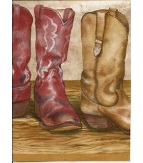 GQ143B - Cowboy Boots Border