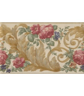 971B04118 - Gold Acanthus Leaf And Floral Border
