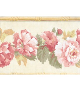 7026002B - Red and Pink Floral Border Special