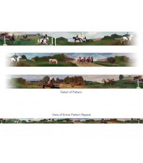 CA3018V1B - Equestrian Mural Style Border