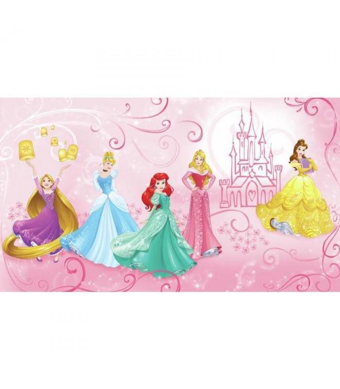 Jl1388m disney princess scenes mural wallpaper the home for Disney princess mini mural