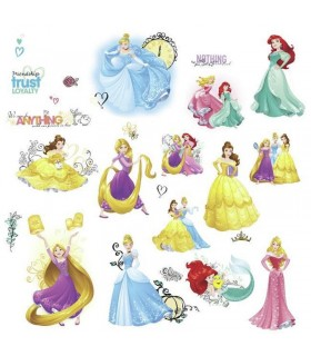 RMK3181SCS - Disney Princess Friendship Wall Decals with Glitter