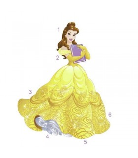 RMK3206GM - Disney Princess Belle Giant Wall Decal
