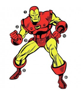 RMK3252GM - Classic Iron Man Comic Giant Decal